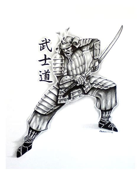samurai tattoo design 2 drawing by kyle adamache