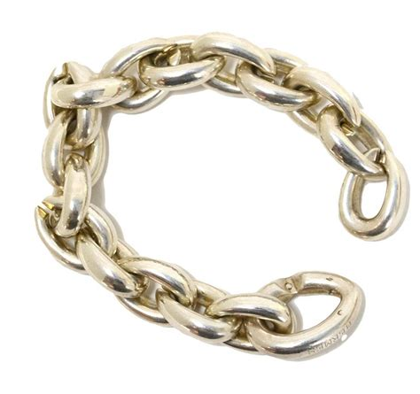chain links for jewelry hermes sterling silver heavy chain link bracelet at 1stdibs