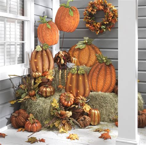 fall hay decorations fall thanksgiving porch outdoor decor totally