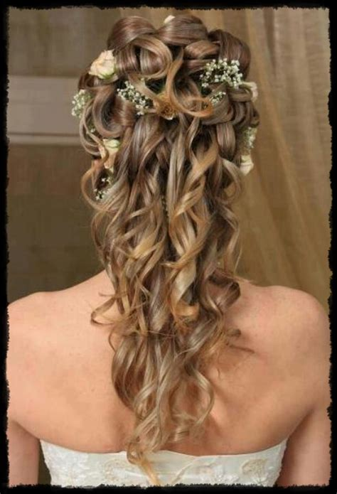 Half Up Half Wedding Hairstyles For Length Hair by Half Up Half Wedding Hairstyle For Medium Length Hair