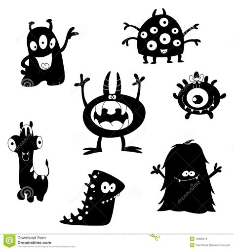 Simple A Frame House Plans by Cute Monsters Silhouettes Royalty Free Stock Photos