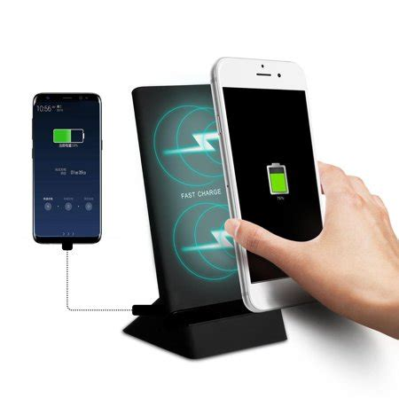 iphone 8 8 plus samsung galaxy note8 qi enabled devices mobile phone wireless charger stand