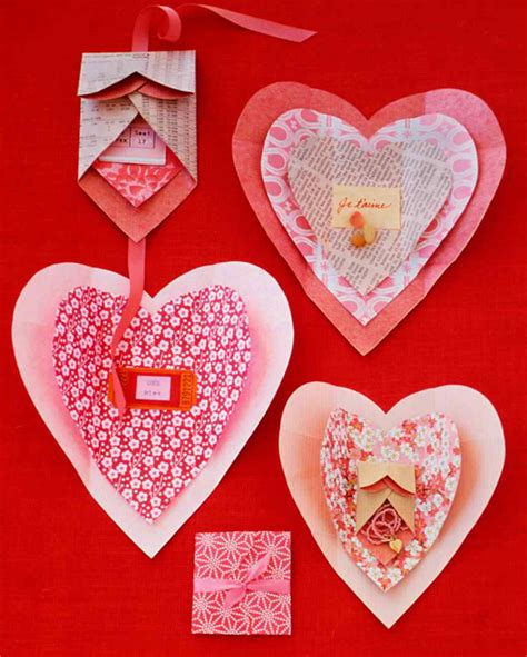 Paper Craft Hearts - day paper wrap crafts