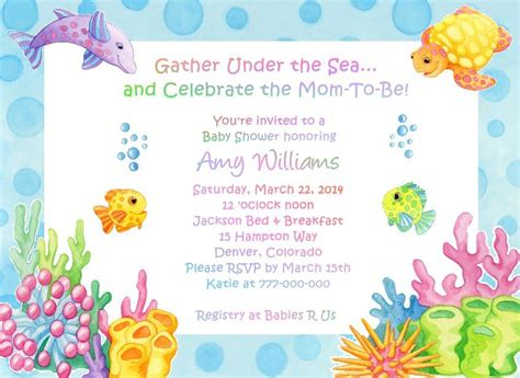 the sea adorable baby shower invitations ebay