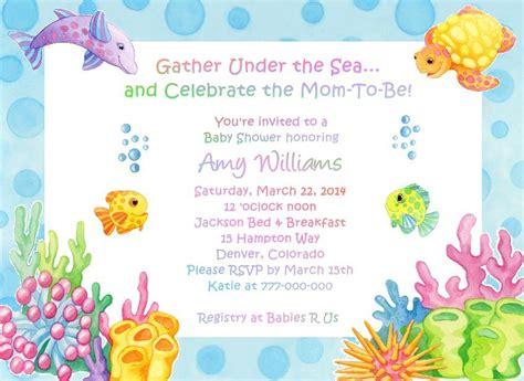 the sea invitations templates the sea adorable baby shower invitations ebay