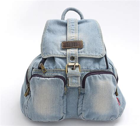 Damn I Indonesia Tas Laptop Denim Blue Light Blue Denim Backpack On Luulla