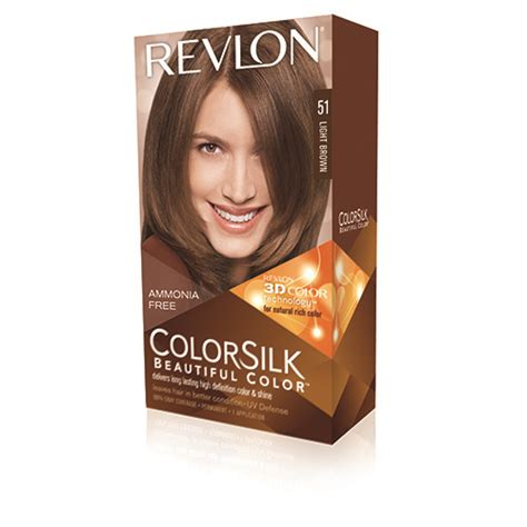 Revlon Brown revlon colorsilk 51 light brown