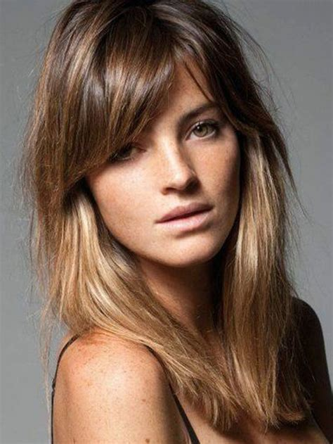 image result for blunt bangs and balayage coiffure coiffures m 232 ches et beaut 233 id 233 e tendance coupe coiffure femme 2017 2018 coiffure quelle frange adopter pour lautomne