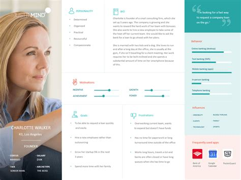 Justinmind S Ux Checklist For Perfecting The Design Process User Persona Template
