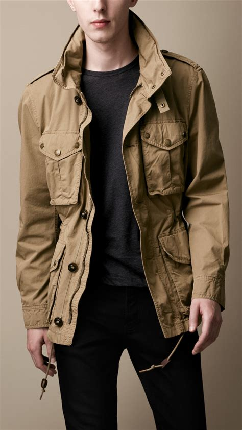 Fashion Burberry 3in1 burberry brit heritage cotton field jacket in brown for pale khaki lyst