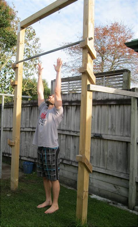 backyard chin up bar back to primal pull up frame