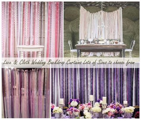 Wedding Lace Backdrop by Wedding Backdrop Lace And Ribbon Backdrop Photo