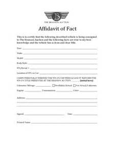 Affidavit Of Facts Template by Affidavit Of Fact 11 Free Templates In Pdf Word Excel