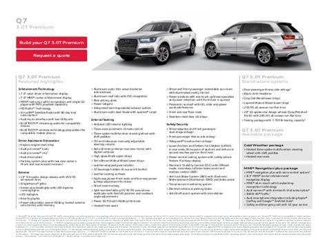 Audi Q7 Brochure 2017 Audi Q7 Brochure Orange County Audi Dealer