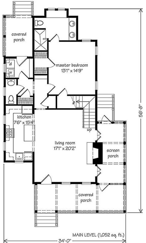 different floor plans small southern cottage house w 3 different porches hq