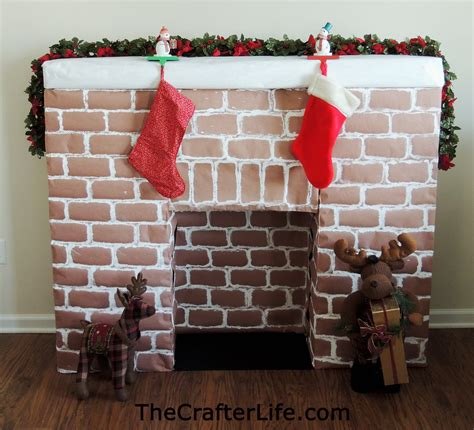 How To Make A Paper Fireplace For - cardboard fireplace