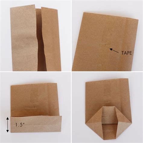 How To Make A Gift Bag From A4 Paper - 17 best ideas about small brown paper bags on