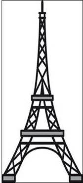 Eiffel tower template cake ideas and designs