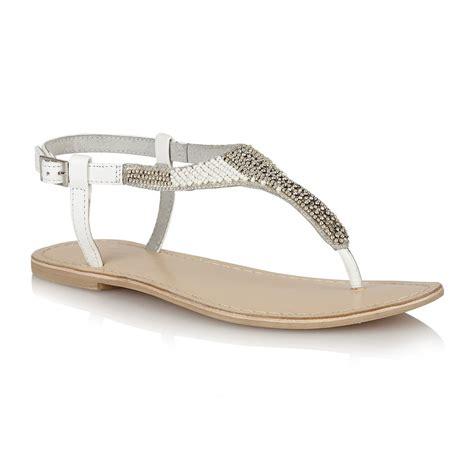 white sandals flat buy ravel huntsville flat sandals in white