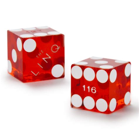 19mm Dice pair 2 of 19mm casino dice used at the linq casino
