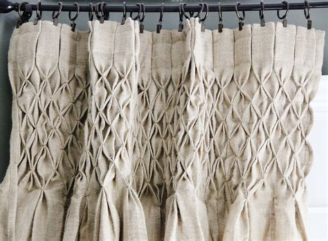 Dining Room Burlap Curtains Burlap Curtain How To Smock Curtains With Thistlewood Farm