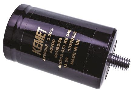 kemet pulse capacitor als31a473ke040 kemet aluminium electrolytic capacitor 47000μf 40v dc 51mm can