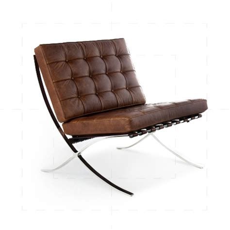 barcelona chair leather barcelona chair in vintage brown leather