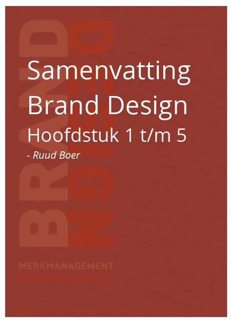 layout samenvatting nederlands samenvatting brand design hoofstuk 1 tm 5 kennisdelen