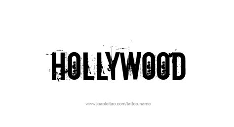 hollywood tattoo designs the word tattoos www imgkid the image
