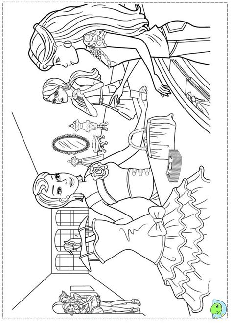 Galerry coloring pages of barbie a fashion fairytale