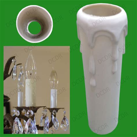 Chandelier Covers Sleeves Drip Candle Wax Effect Chandelier E14 Light Bulb Covers Sleeve 100mm X 29mm Ebay