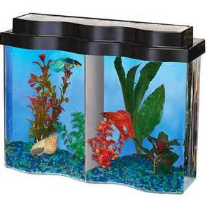 Hawkeye BettaWave Aquarium, 2.5gal with Divider: Fish : Walmart.com