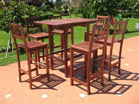 Pebble Lane Living 7 Piece Outdoor Premium Wood Patio Bar