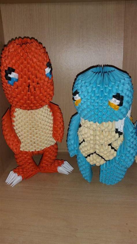 3d origami squirtle tutorial 3d perler pokemon pok 233 mon amino
