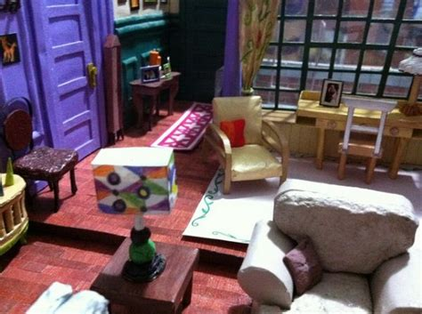 monica s apartment friends incredibly detailed papercraft model of the apartment from