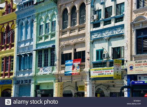 buy a house in kuala lumpur brightly painted chettiar shophouses in kuala lumpur malaysia stock photo royalty