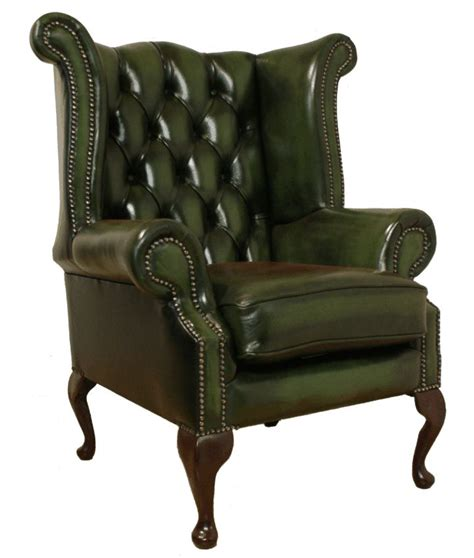 high back winged leather armchairs chesterfield armchair queen anne high back fireside wing