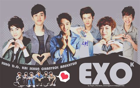 exo wallpaper with name exo k sport korea wallpaper by super naruman junior