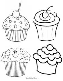 icolor quot cupcakes quot on pinterest coloring pages free