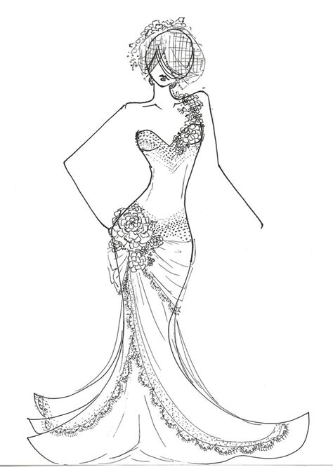 6140 Dress Fashion free fashion model coloring pages coloring pages