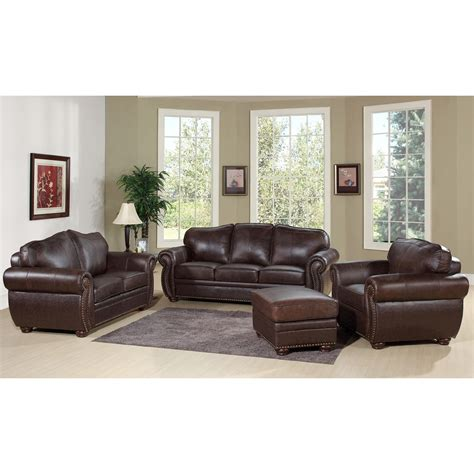 Modern Living Room Ideas With Brown Leather Sofa Furniture Brown Leather Loveseat For Modern Living Room Decor Idea
