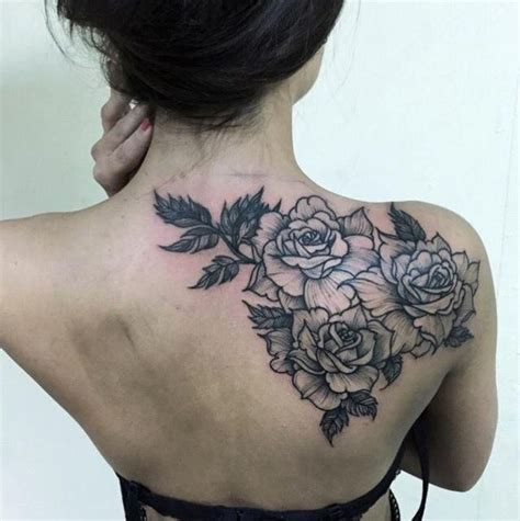 tattoo ideas back shoulder rose back shoulder tattoo tattoos pinterest be cool