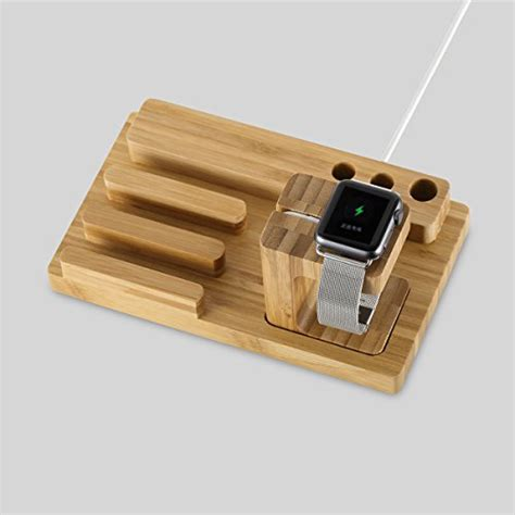 multi device charging station and cord organizer bamboo multi device from usa pparty bamboo universal multi device cord