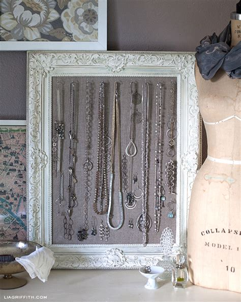 how to make a jewelry display diy antiqued frame jewelry display