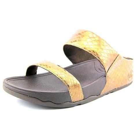 womens sandals slide fitflop lulu slide bronze slides sandal sandals