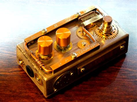 Handmade Effects Pedals - the steunk guitar effects of svisound guitar wink