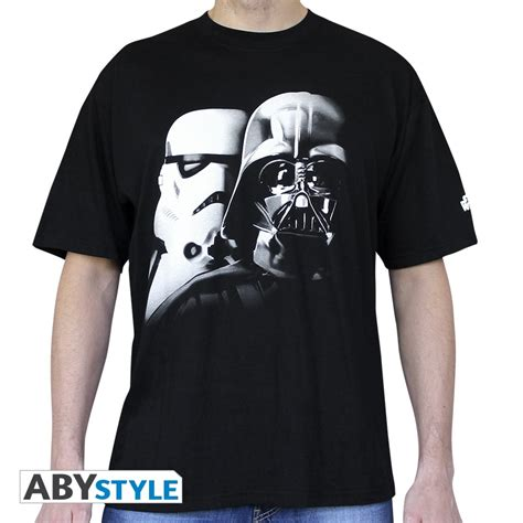 wars t shirt wars t shirt vador trooper abystyle