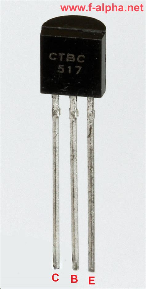 transistor darlington bc517 f alpha net bc 517