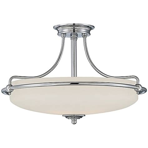 Quoizel Flush Mount Ceiling Light Buy Quoizel Griffin Large Semi Flush Mount Ceiling Light In Polished Chrome From Bed Bath