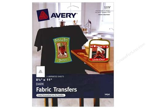 avery iron on transfers dark instructions avery fabric transfers 8 1 2 x 11 in dark t shirt 5 pc